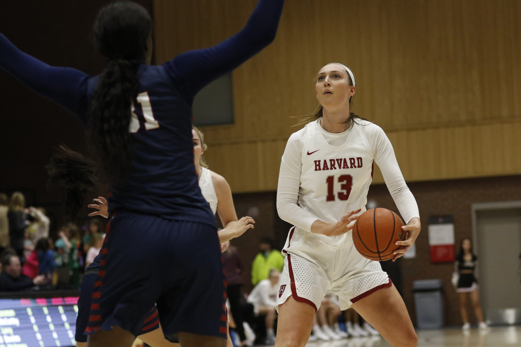Harvard senior Jeannie Boehm co-led the Crimson in scoring with 10 points during a 60-46 loss to Princeton on Saturday.