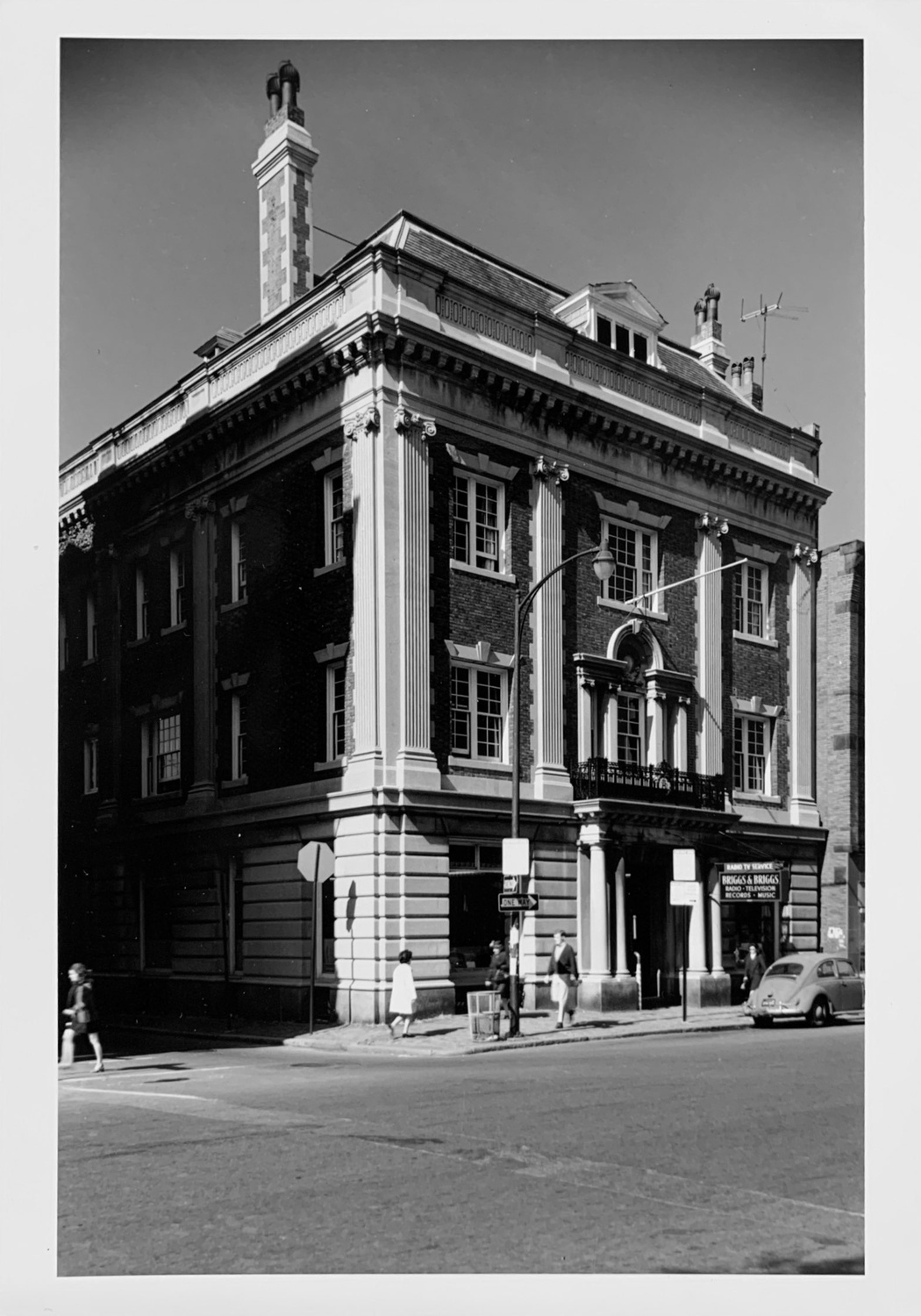 The facade of the A.D. Club in 1968, not long after the music store Briggs & Briggs expanded to occupy the entire first floor of the club's 1270 Mass. Ave. storefront.