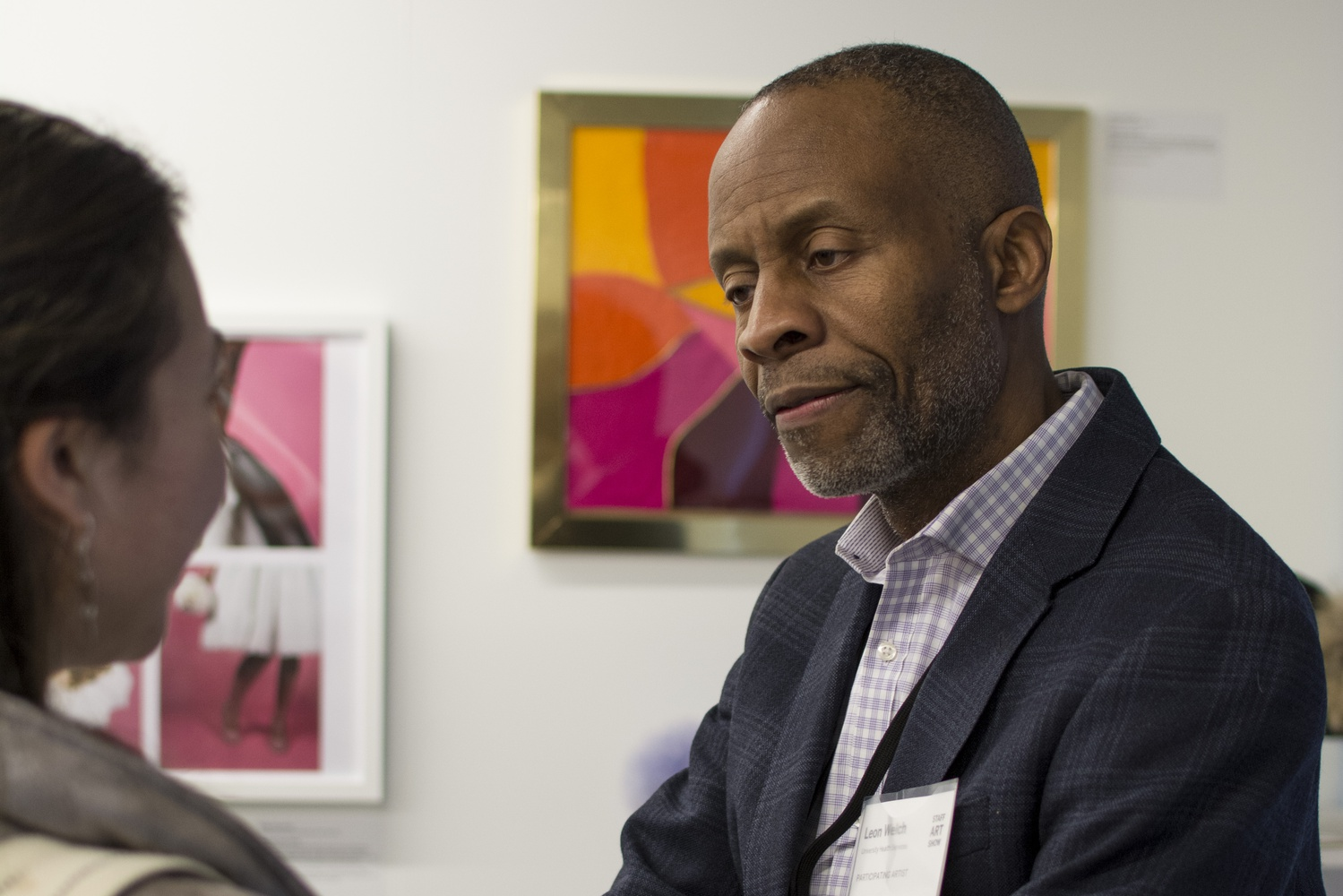 Leon C. Welch, an HUHS employee, was one of the participating artists at the Staff Art Show. He hopes the show will foster more meaningful interaction between staff, students, and faculty.