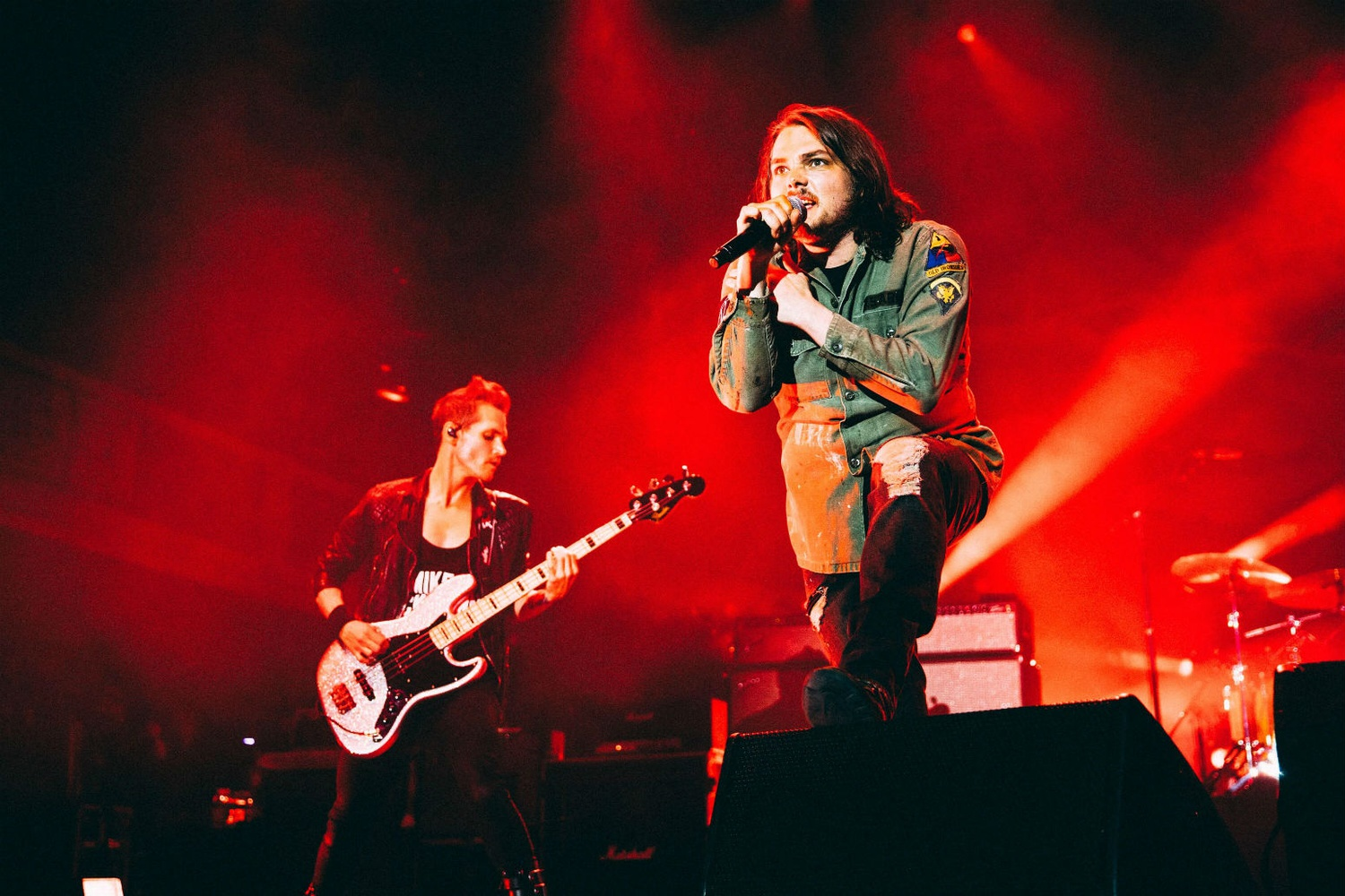 My Chemical Romance perform together for the first time since 2012.