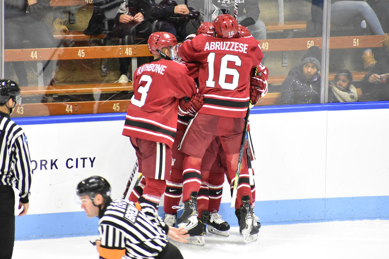 The Crimson skated past the Big Green Friday night to earn its third and fourth points against the conference foe this season.