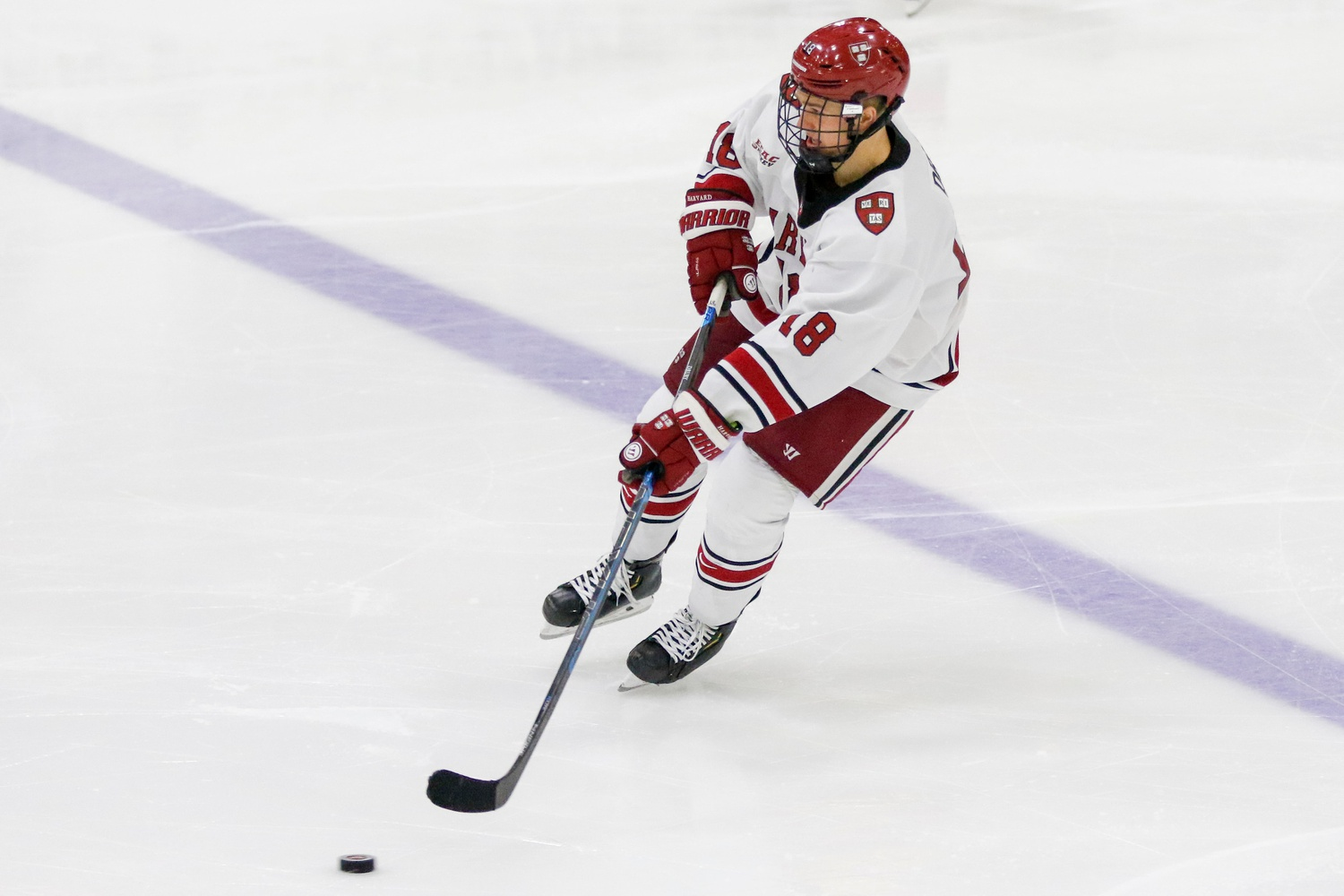 Sophomore center Jack Drury has emerged as the backbone of his ranked Crimson squad. Already a leader in the locker room, the forward is among the NCAA's highest per-game scorers this season.