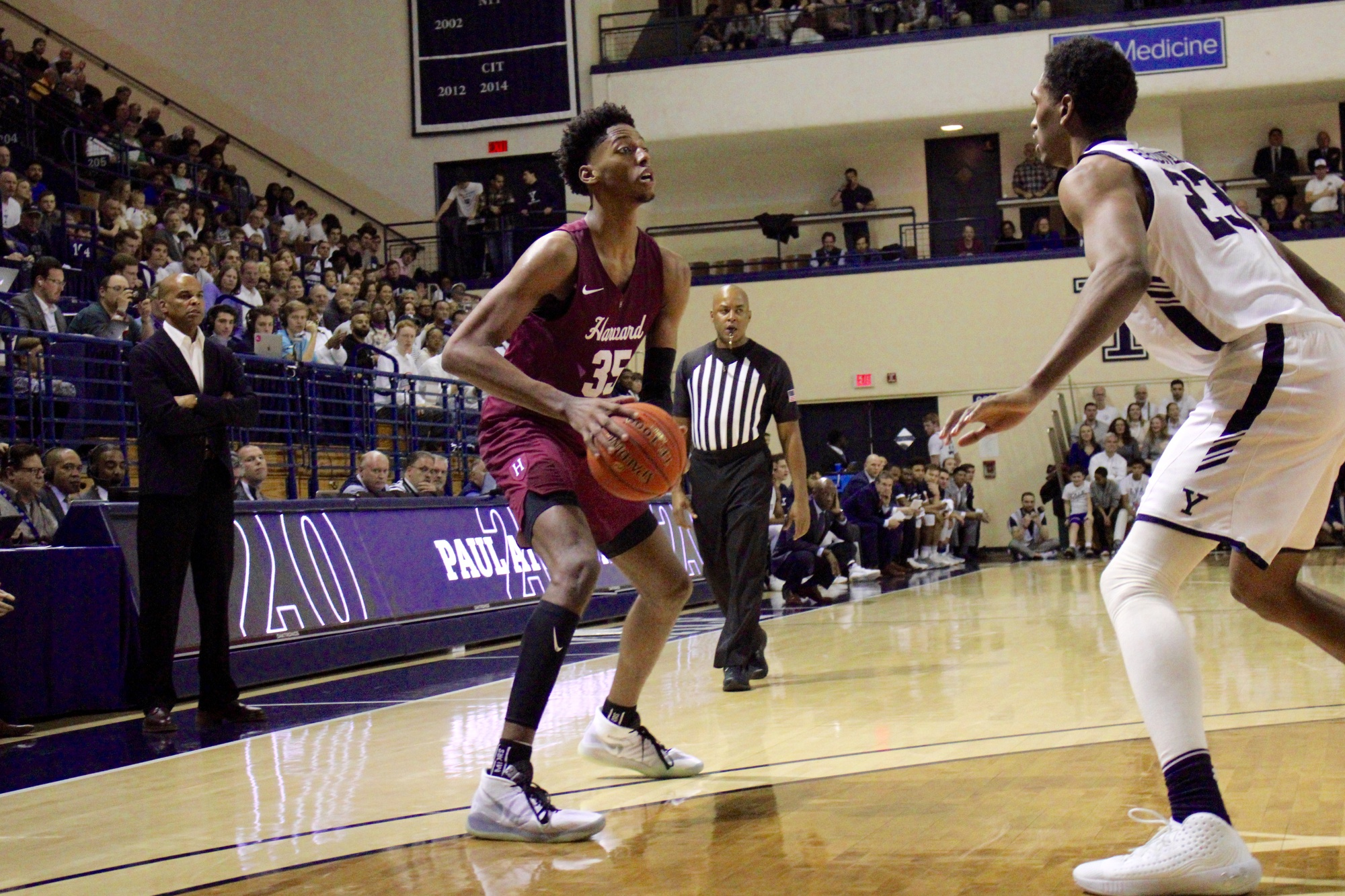 Senior forward Rob Baker led the team in scoring against Brown with 18 points.