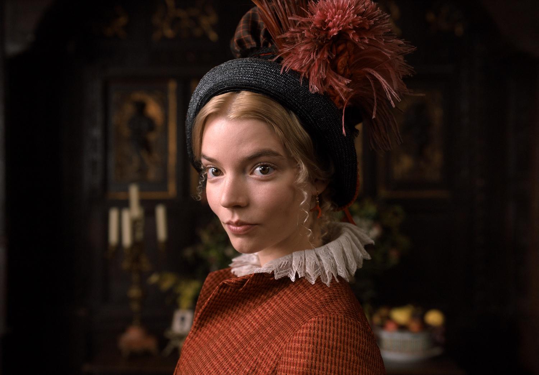 "Anya Taylor-Joy stars as Emma Woodhouse in ""Emma."" (2020) directed by Autumn de Wilde."
