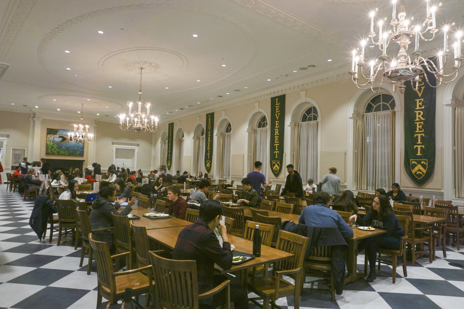 Leverett House has recently decided to close the dining hall from 2 a.m to 6 a.m. to support the dining hall staff.