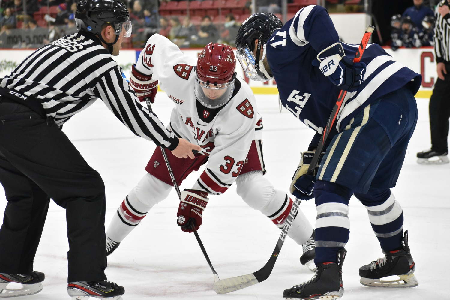 Despite the Crimson's poor start, a late surge allowed Harvard to tie the game.