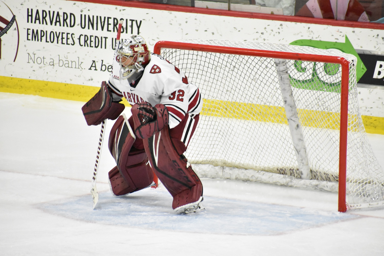 Gornet's .907 save percentage is a few points lower than his teammate Gibson's, but Harvard's two goalies both have the same winning percentage.