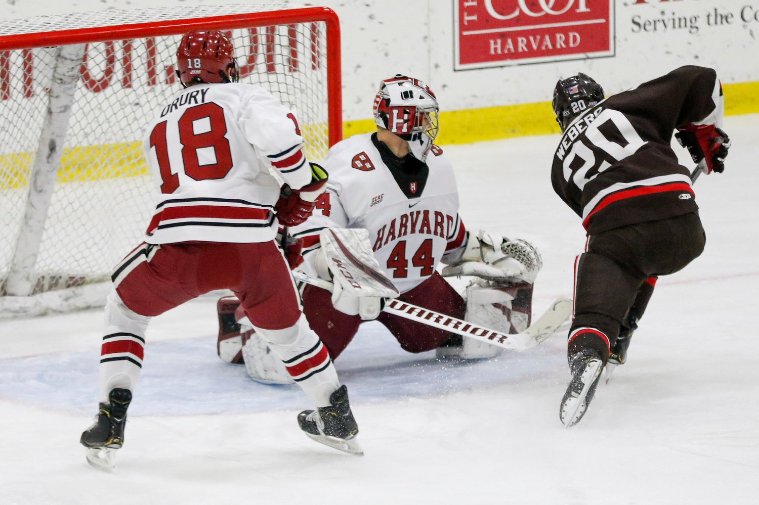 Freshman net-minder Mitchell Gibson held firm on Saturday, ceding just one goal en route to a .963 save percentage.