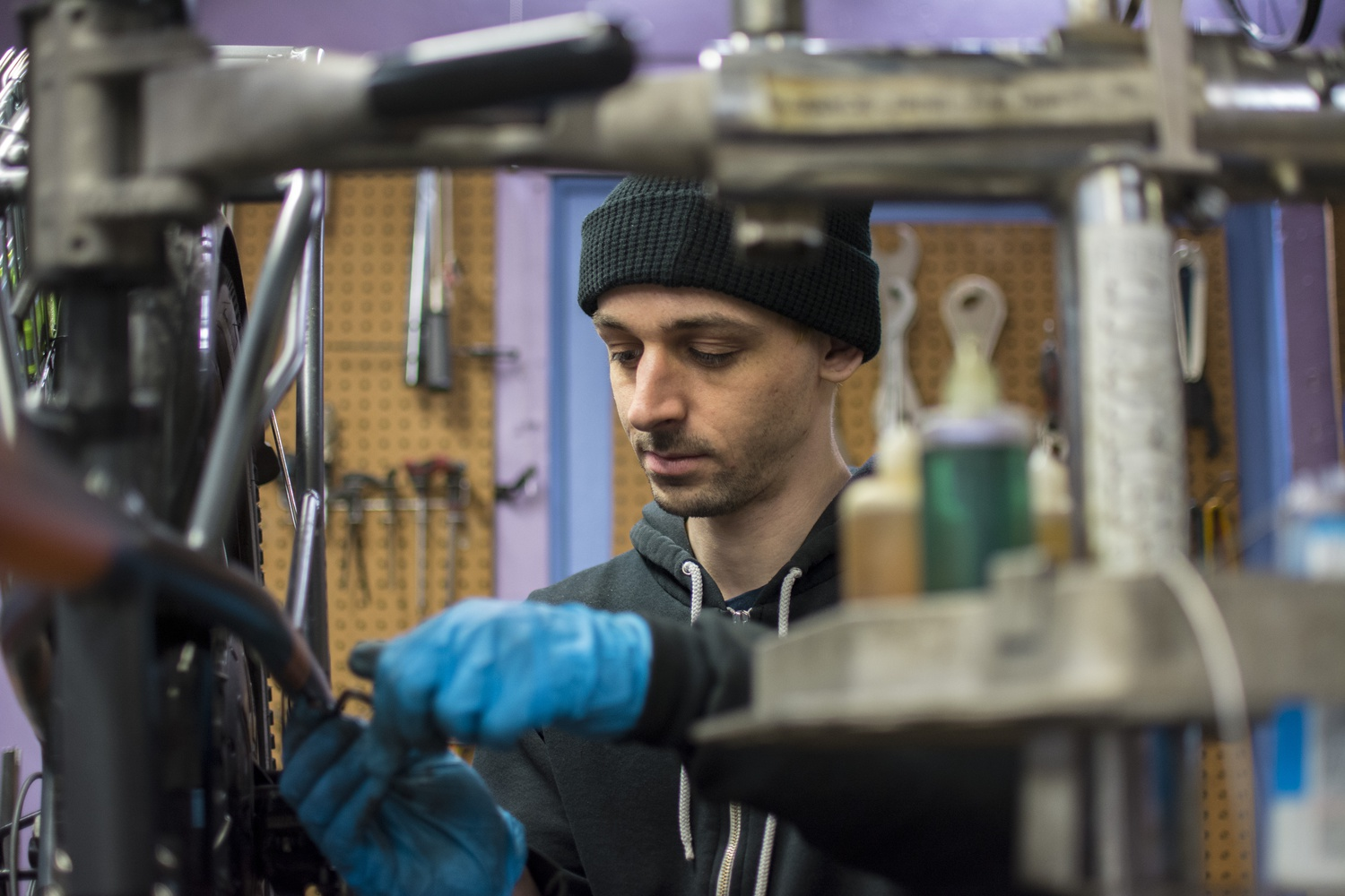 Tucked beneath Cabot House hides an award-winning bikeshop with an anti-capitalist ethos