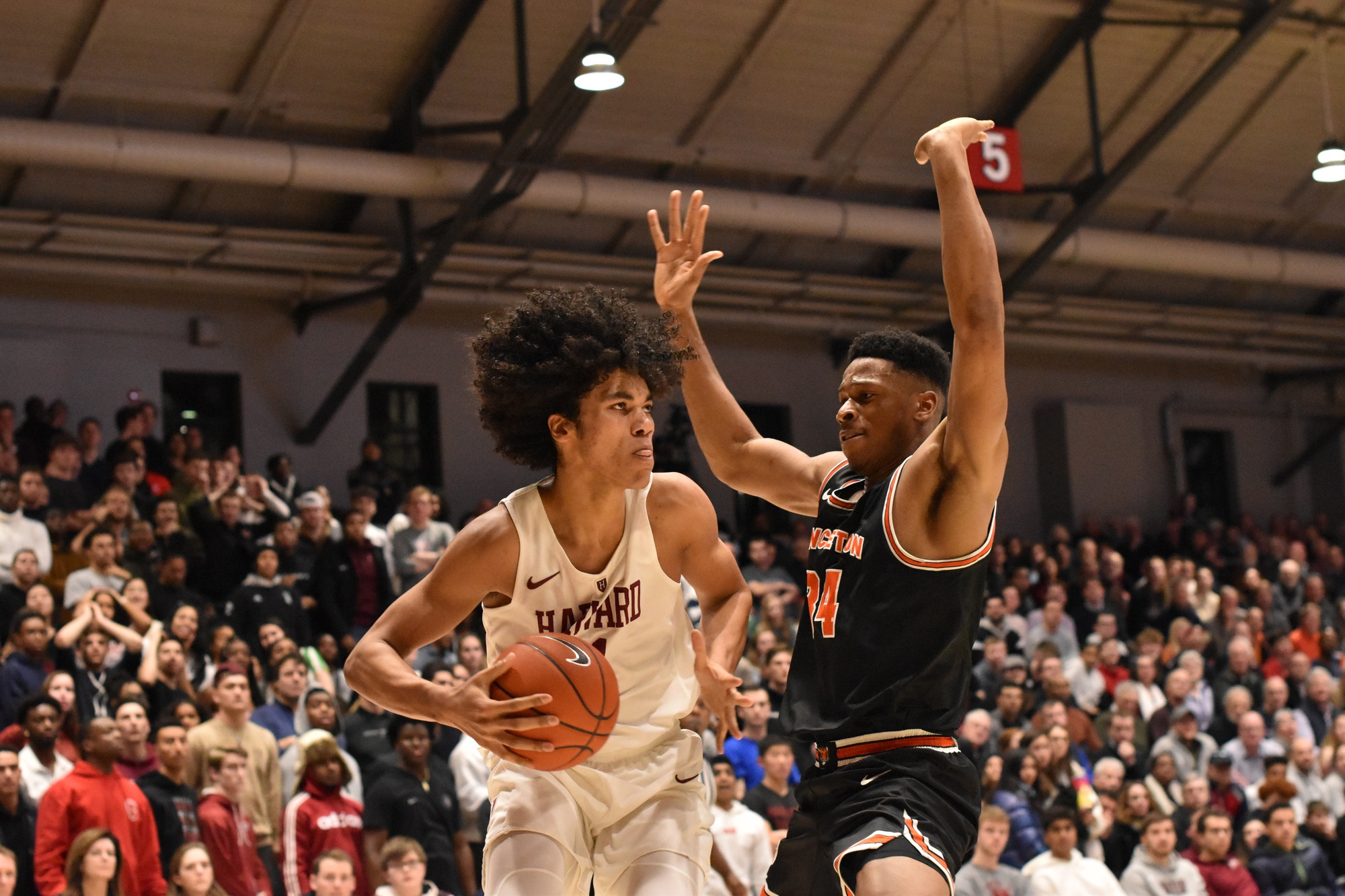 Sophomore forward Mason Forbes tallied four blocks in Friday's win over Princeton.