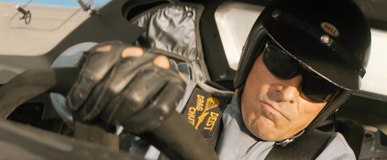 "Christian Bale stars as Ken Miles in ""Ford v Ferrari"" (2019), directed by James Mangold."