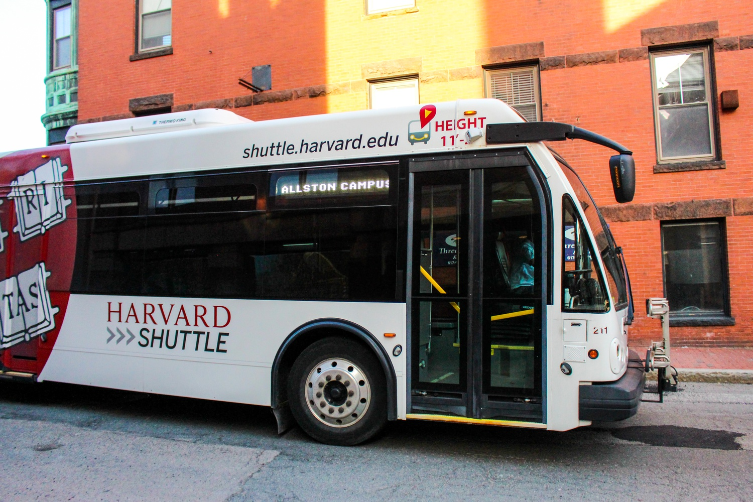 The Allston Campus Express shuttle provides transportation from the Allston campus to Harvard Yard at approximately 15 minute intervals.