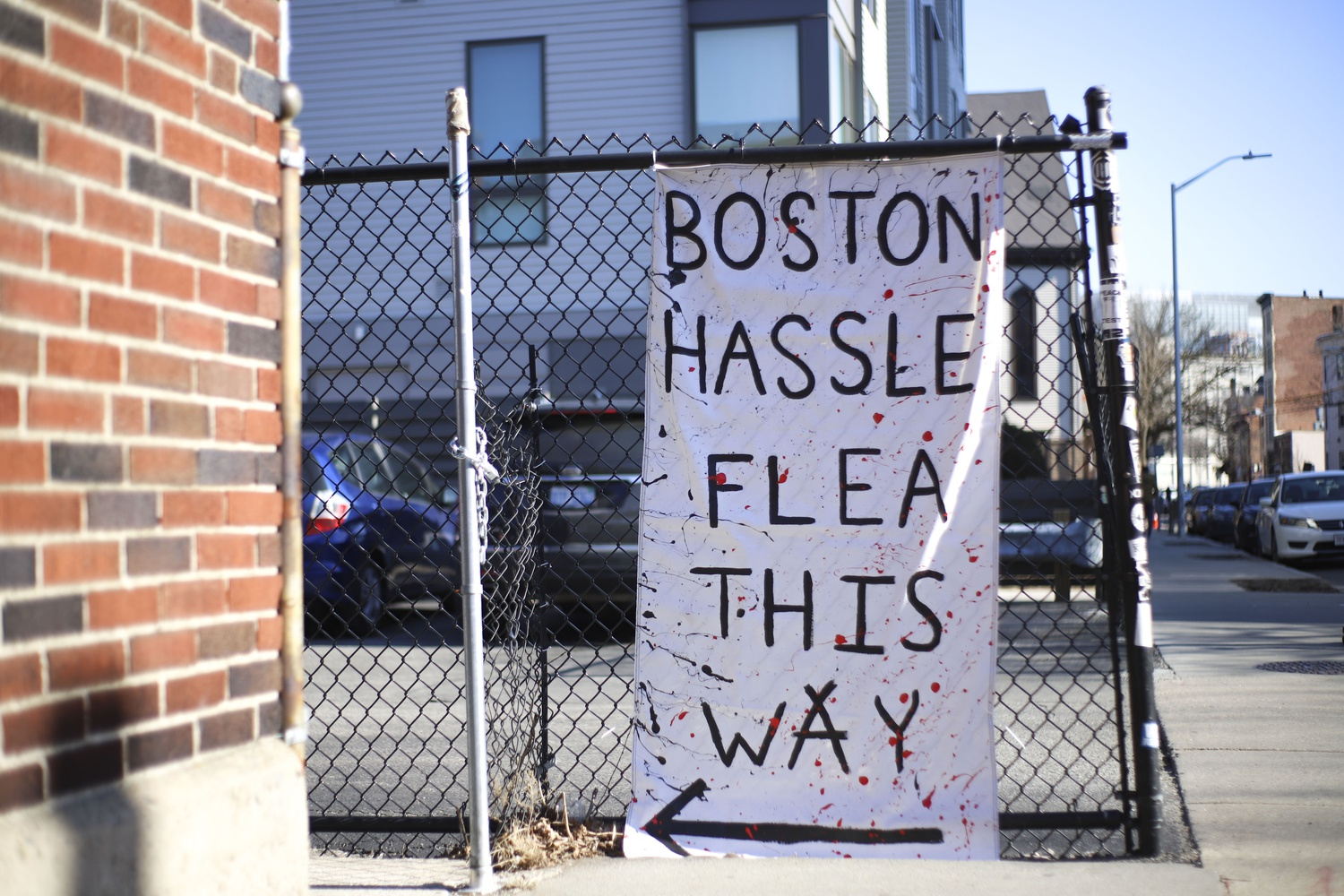 On Saturday afternoon, Boston Hassle had their bi-monthly art and flea market at Elks Lodge in Central Square.