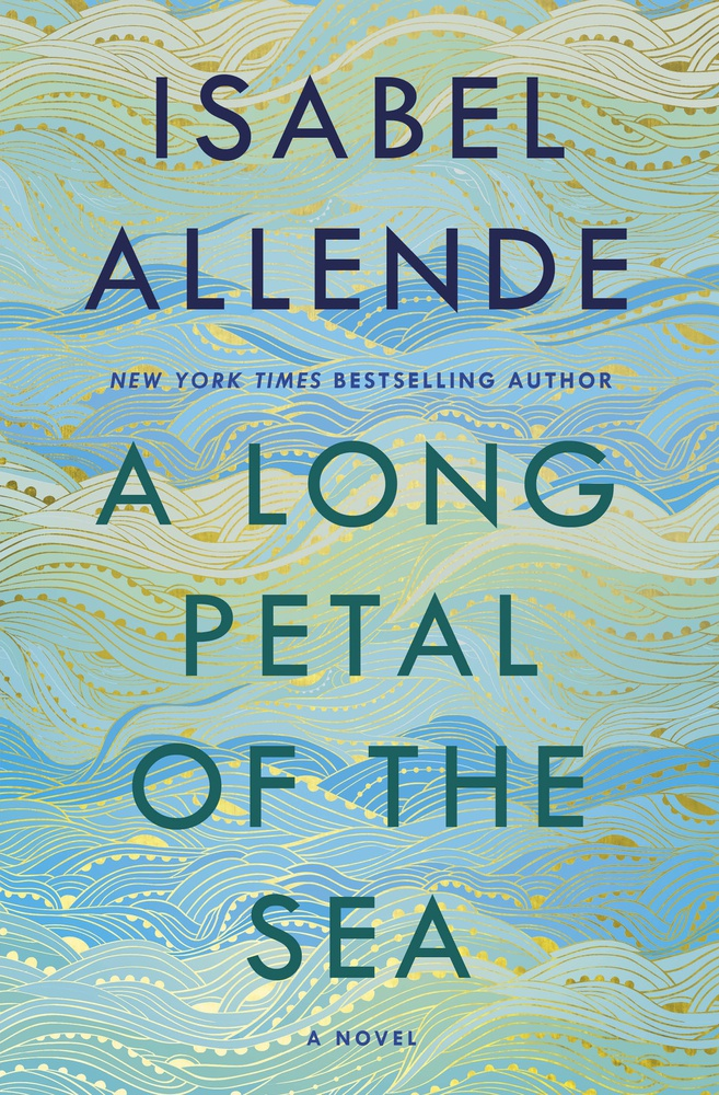 "Cover art of ""A Long Petal of the Sea."""
