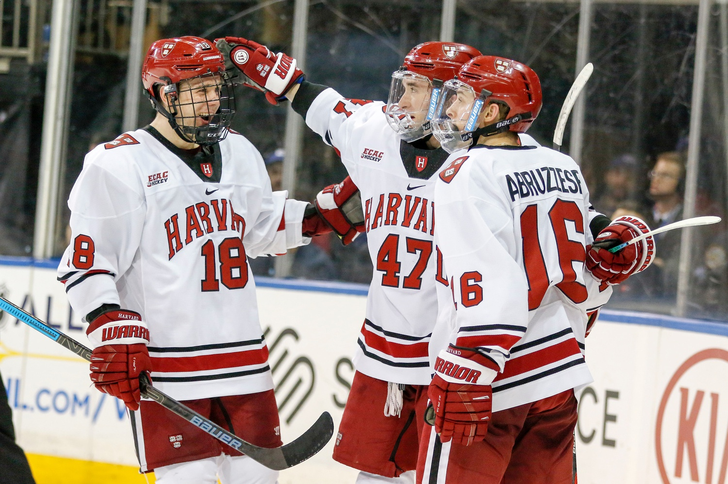 In the Crimson's prior matchups with Union and RPI this season, its top line has combined for 18 points.