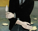 """Lucian Freud's """"Man with a Feather"""""""