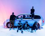 "A photo of seven-man boy band ""Juice"""