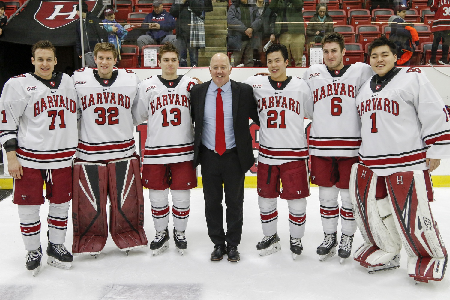 The senior class has won 75 games in its four years at Harvard, has been to the Frozen Four once, and has had three trips to Lake Placid.