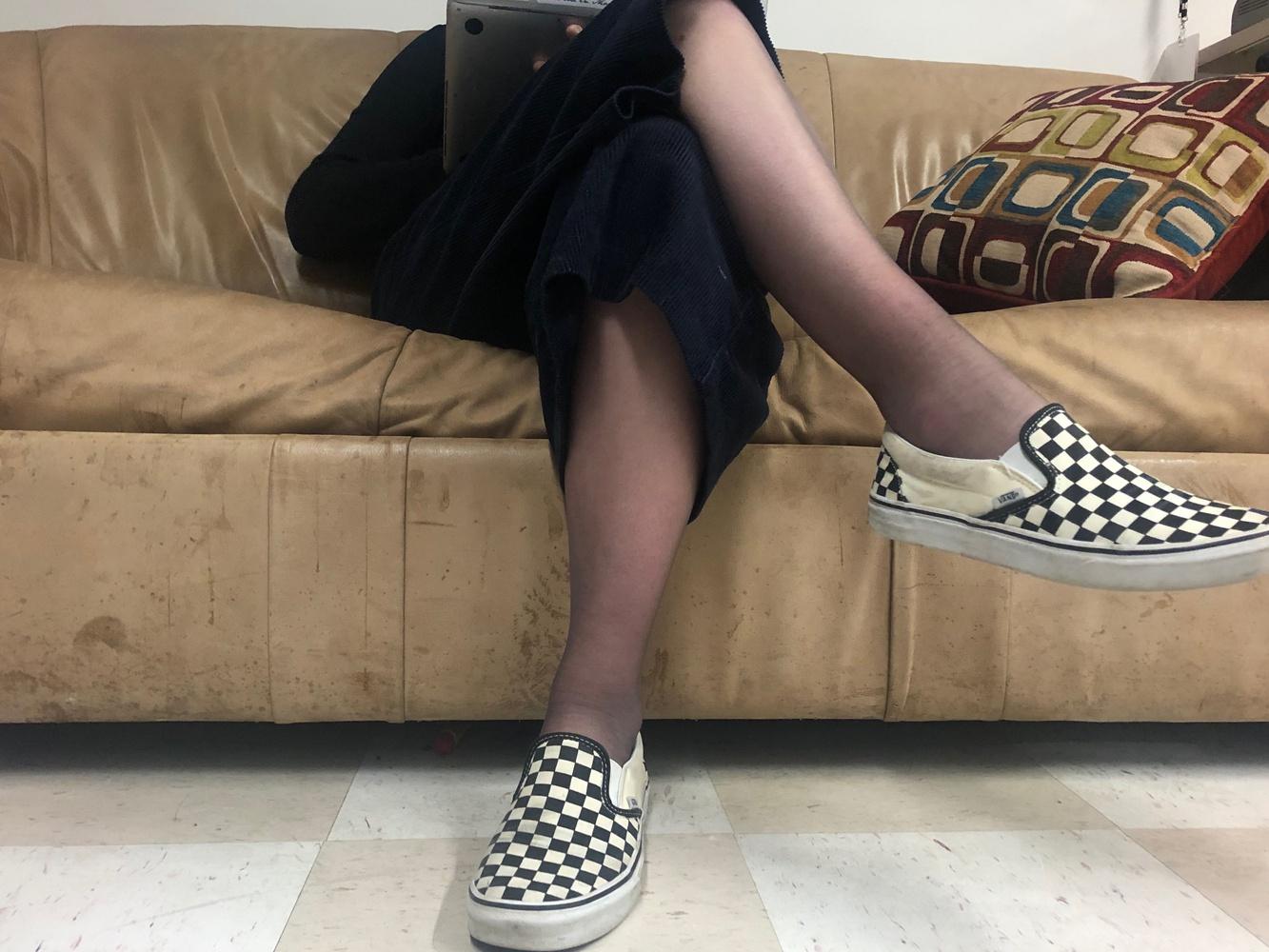 "Arts Chair Allison J. Scharmann rocks ""Cropped Wide-Legged Trousers,"" Harvard's second-hottest winter fashion trend."