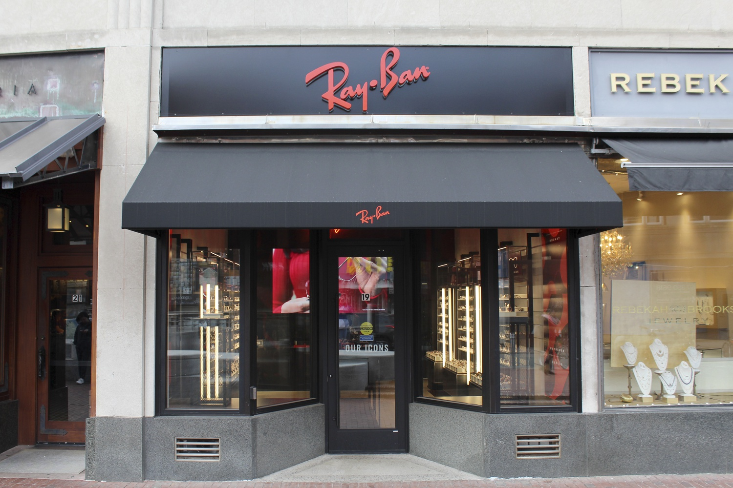 Ray-Ban, a premium eyewear company, opened last September in the Square.