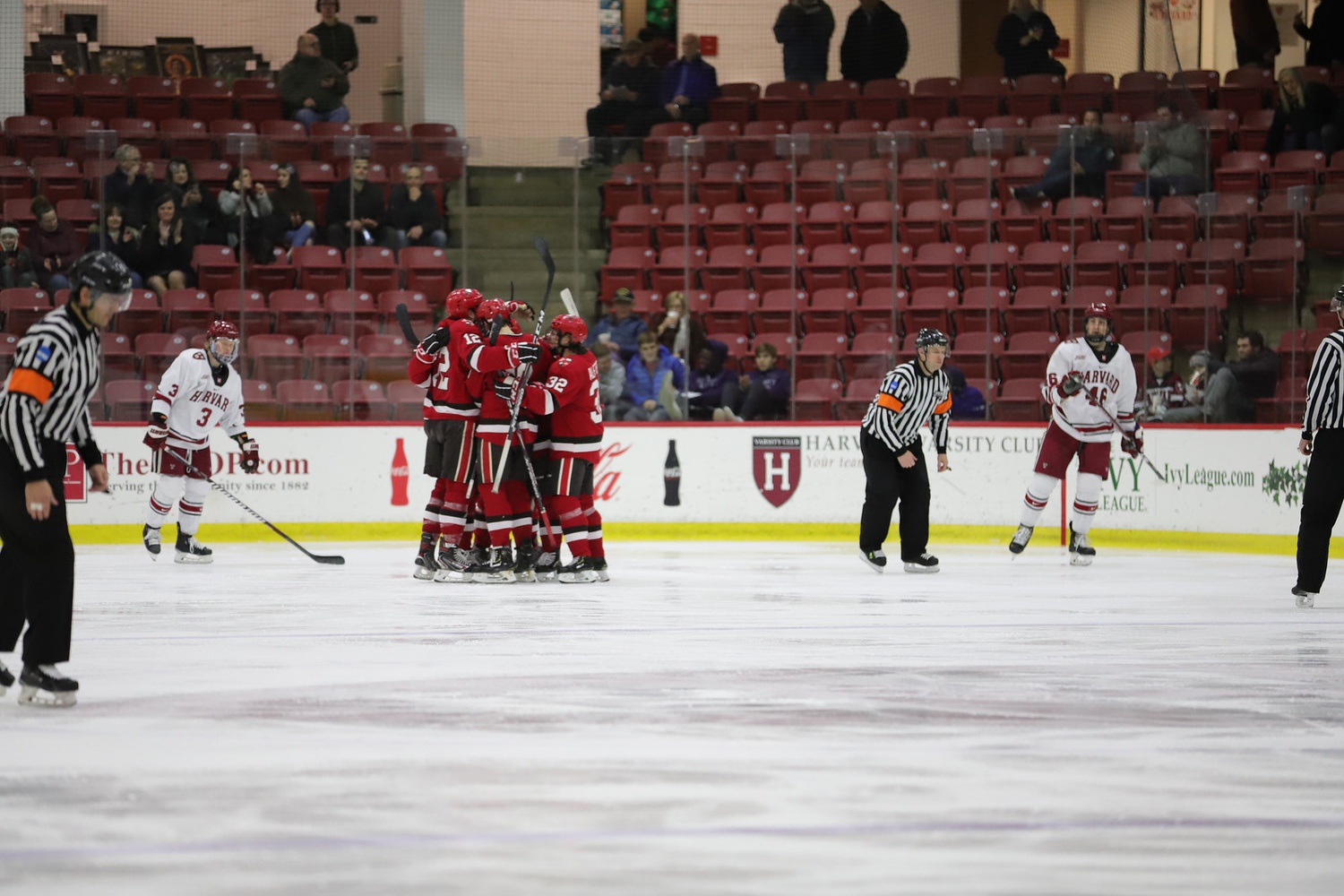 Despite going ahead three separate times on Friday, it was not until late in the third period that the Crimson was able to distance itself from the Saints.