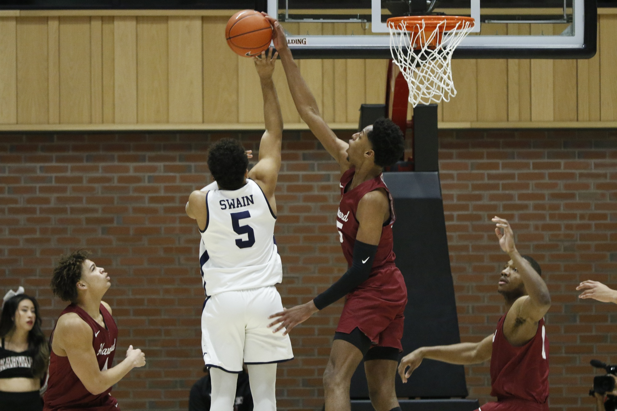 Senior forward Robert Baker earned four rejections on Saturday night against Yale.