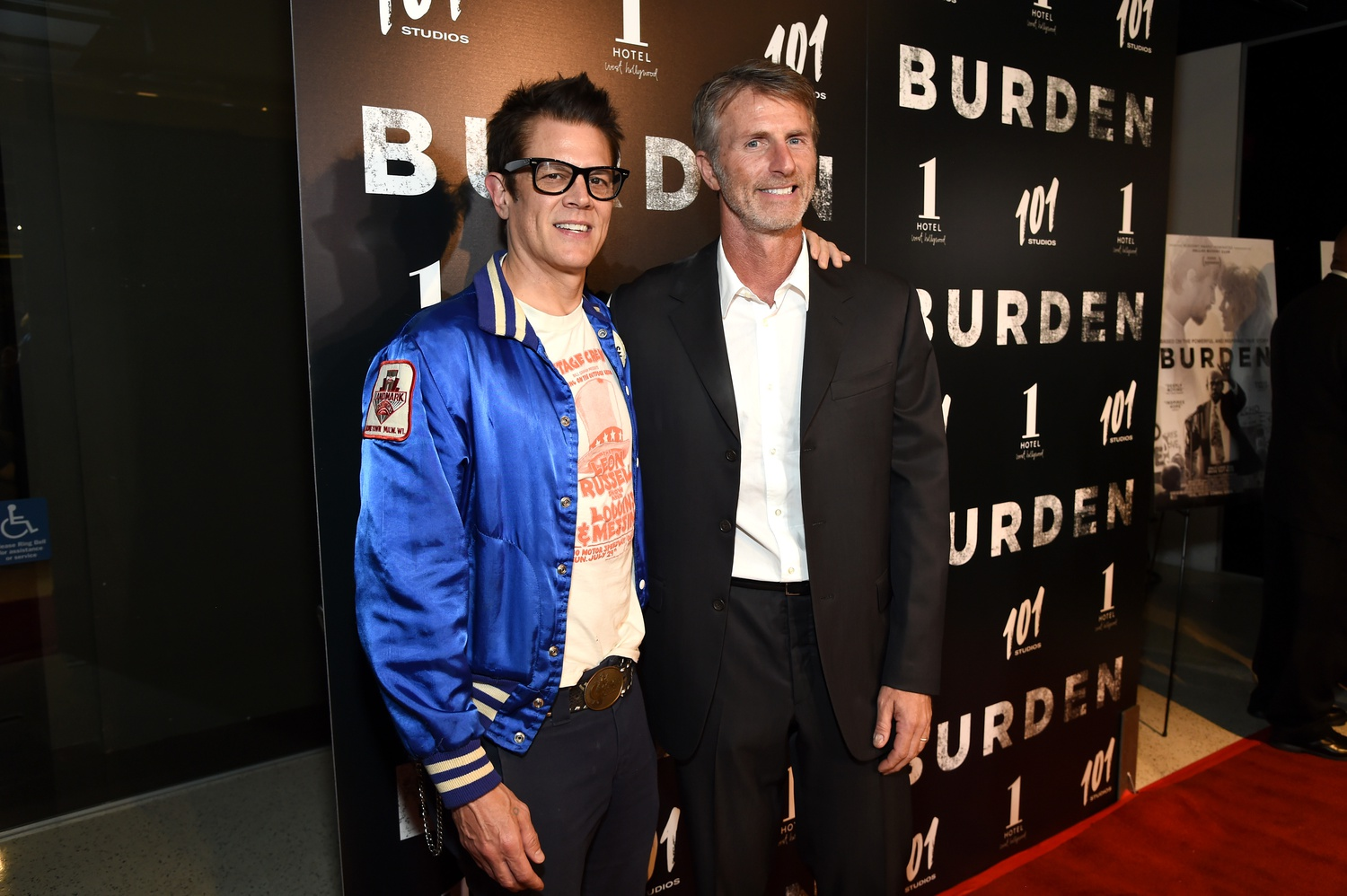 "Robbie Brenner (left) and Andrew Heckler (right) attend the LA premiere of ""Burden."""