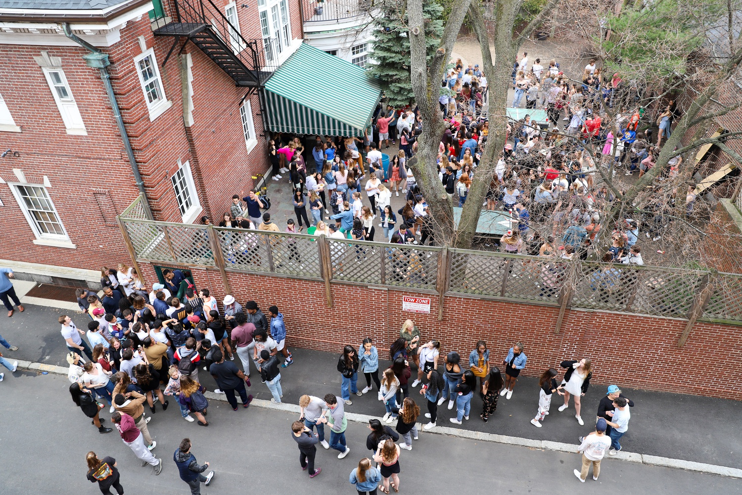 The Owl, a final club at Harvard, hosted a daytime party following the College's announcement that students must evacuate campus.