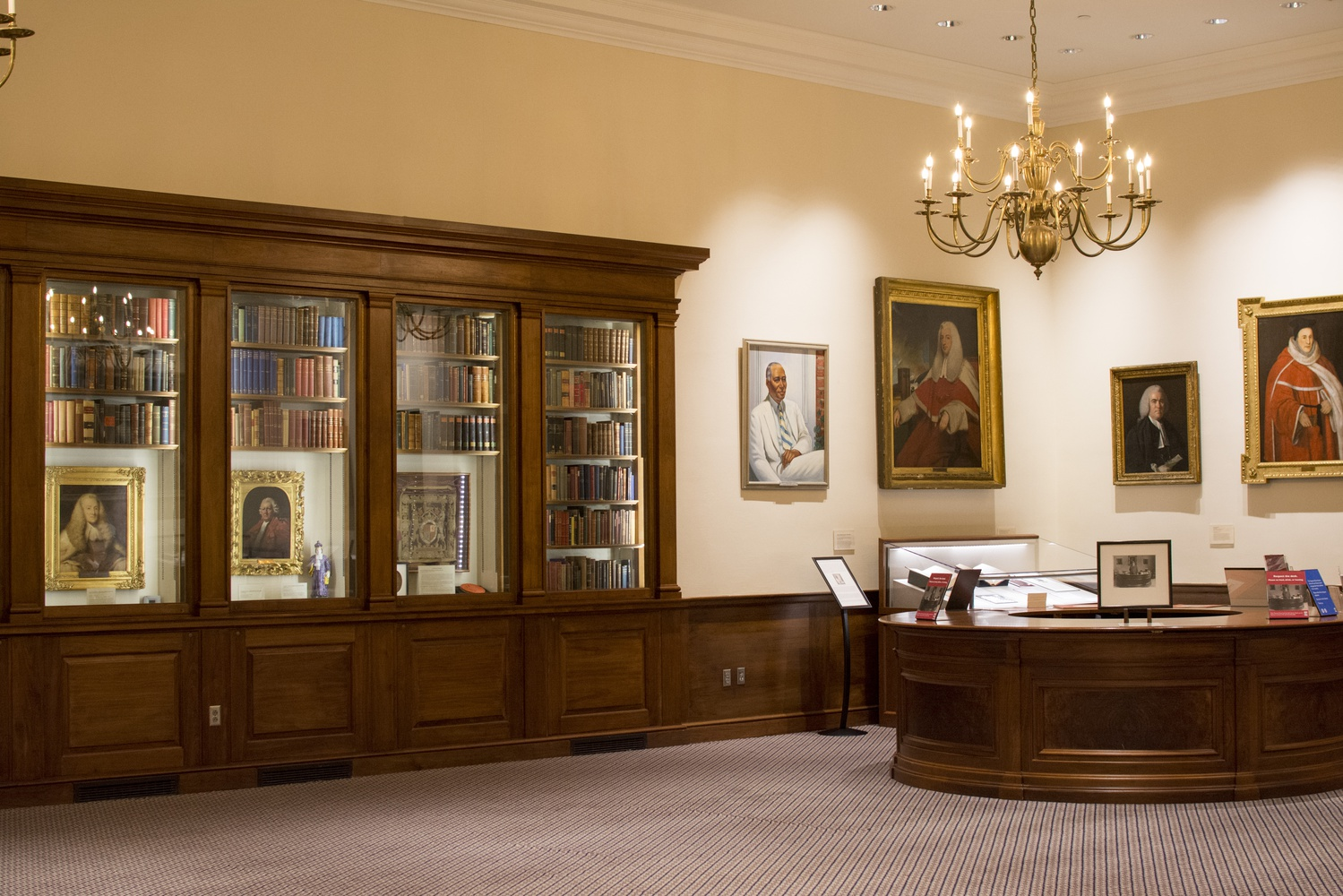 The Casperson Room is located in the Harvard Law School Library.