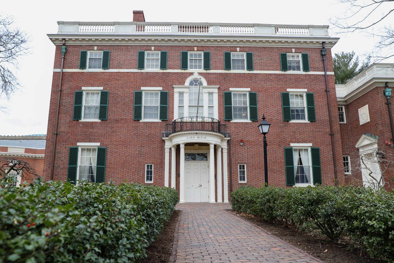 Many of Harvard's governing boards, including the Board of Overseers, met in Loeb House before the COVID-19 pandemic.