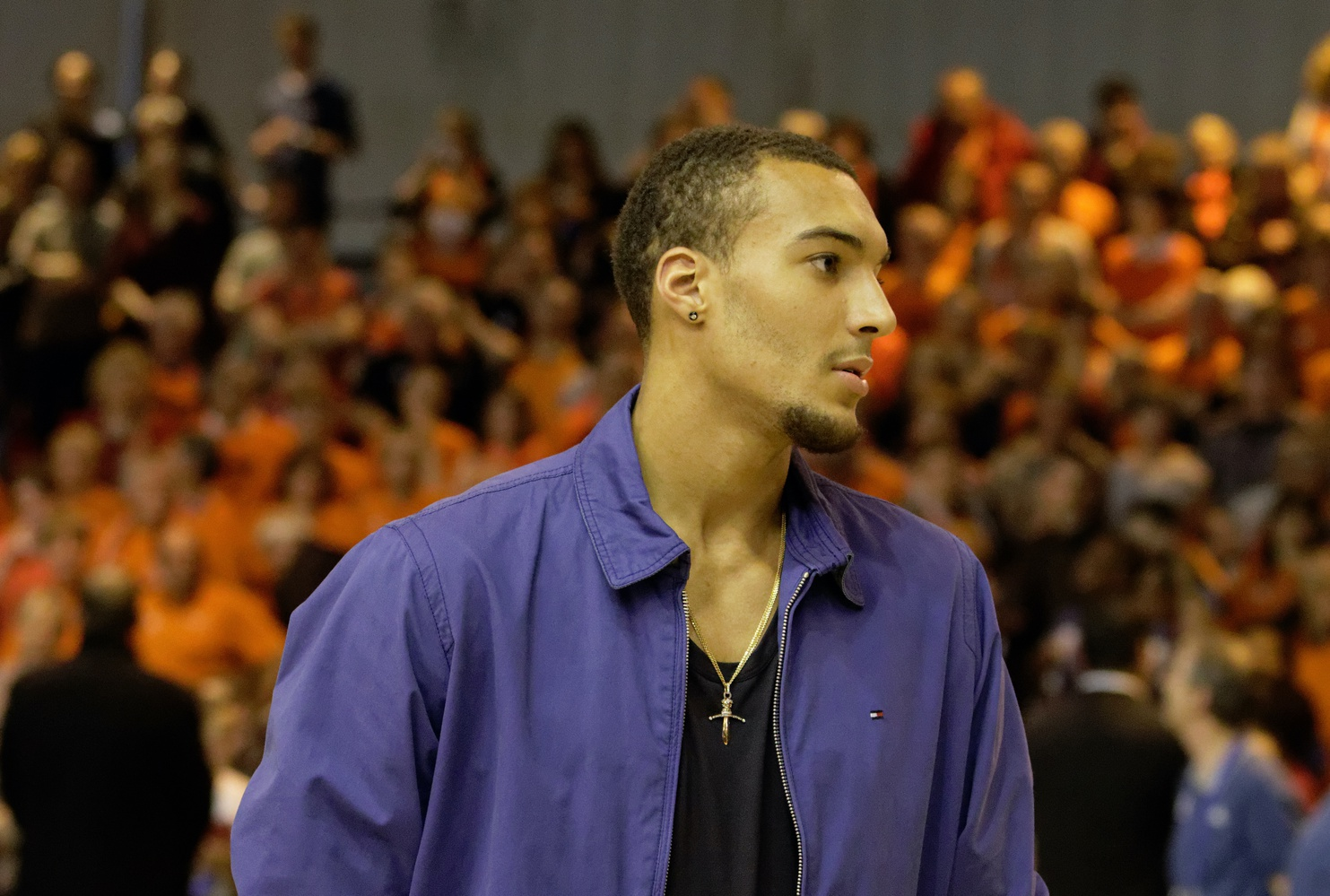 Rudy Gobert-Bourgarel, a French professional basketball player for the Utah Jazz,  tested positive for COVID-19 on Mar. 11.