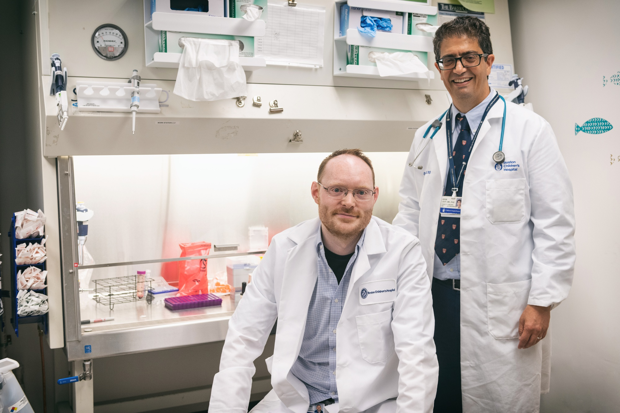 Doctors Ofer Levy and David J. Dowling lead the Adjuvant Discovery Program, which has focused its efforts on finding an adjuvanted vaccine for coronavirus. ""