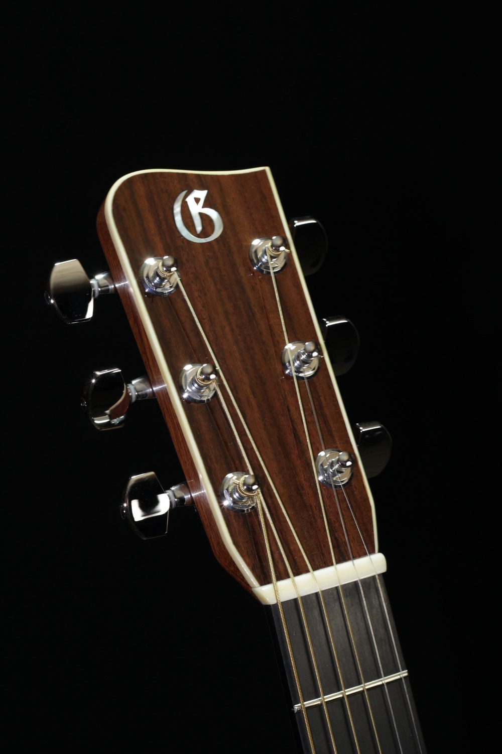 A Doc Watson Gallagher guitar, photographed by David Mathis.