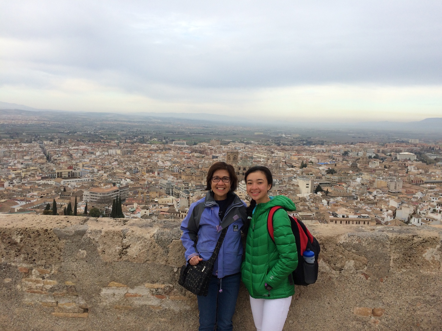 Staff writer Maliya Ellis and her mother in Spain