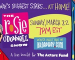 rosie o'donnell benefit show graphic