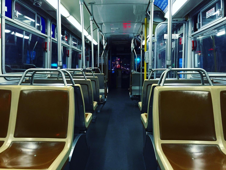 A public bus.