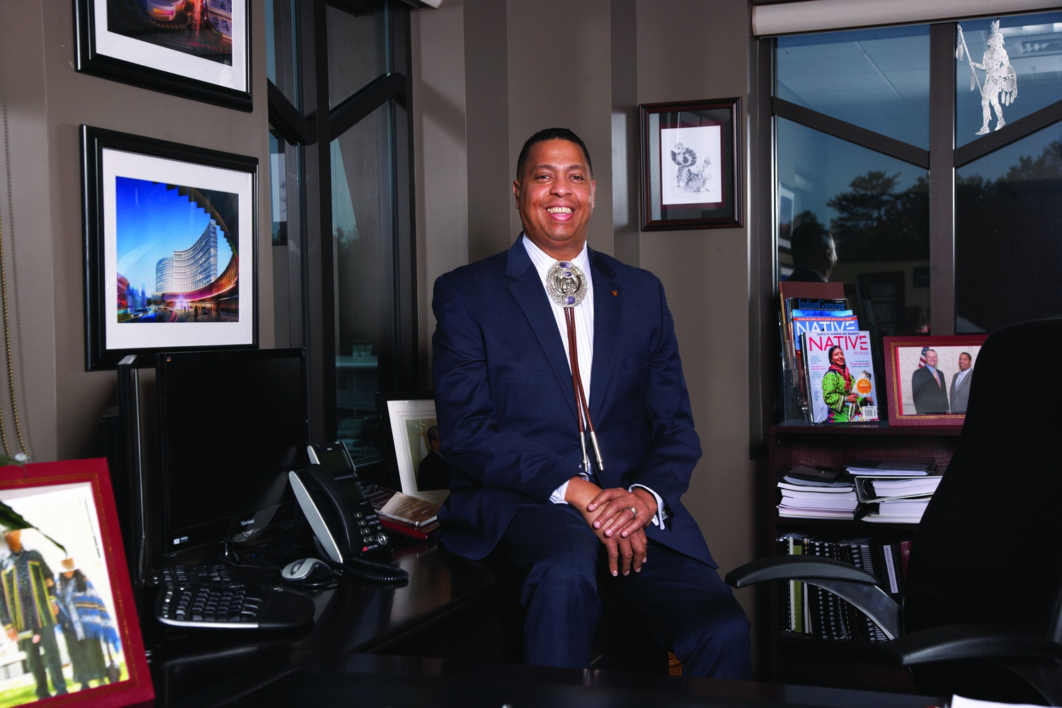 Cedric D. Cromwell serves as president and chairman of the Mashpee Wampanoag Tribe.