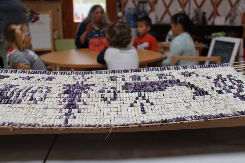 Children study at the Mukayuhsak Weekuw — a Mashpee preschool specializing in Wôpanâak language instruction and a premier site of Indigenous language revitalization.