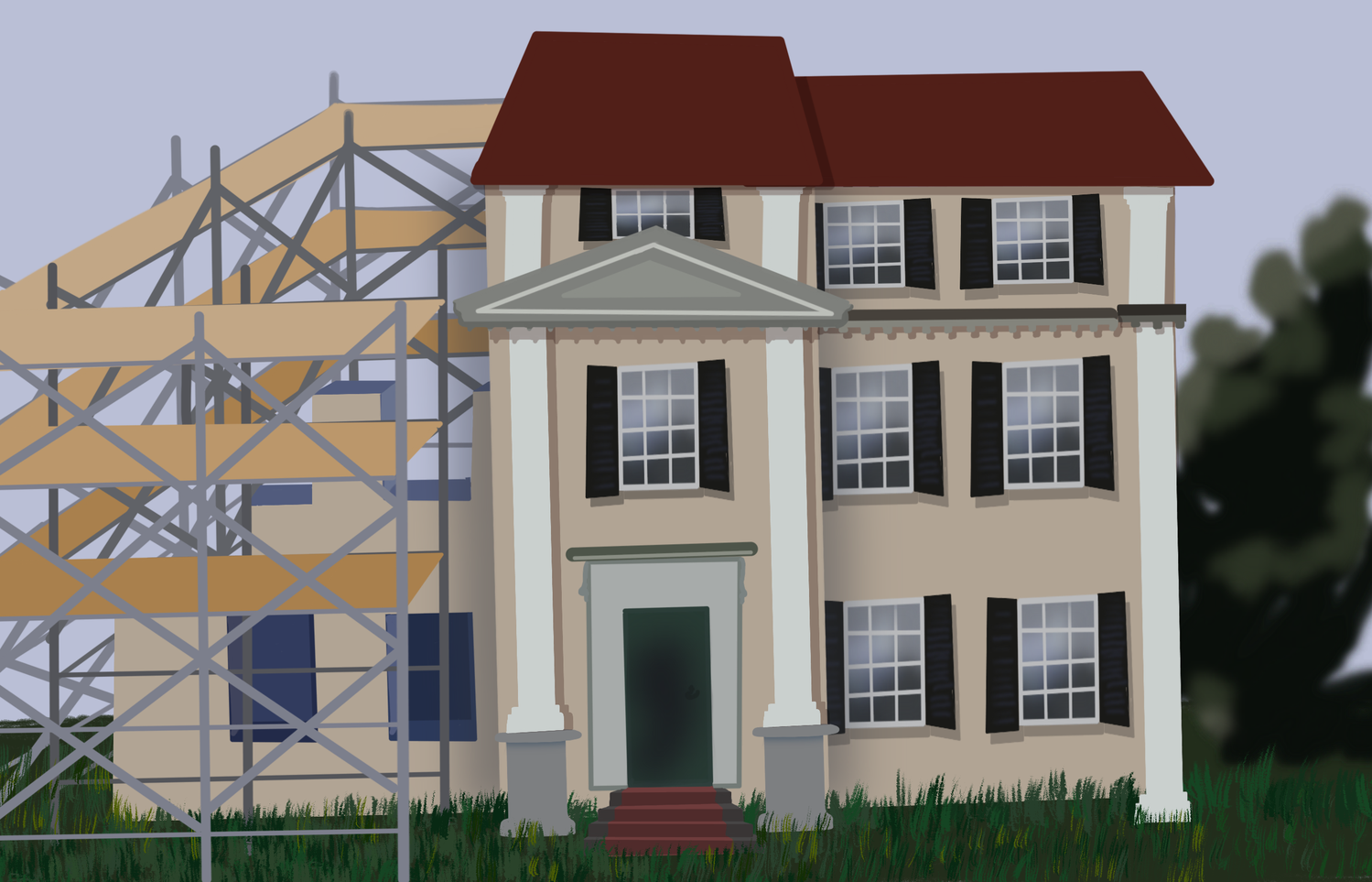 Adams House is currently undergoing renovations as part of the University's house renewal effort.