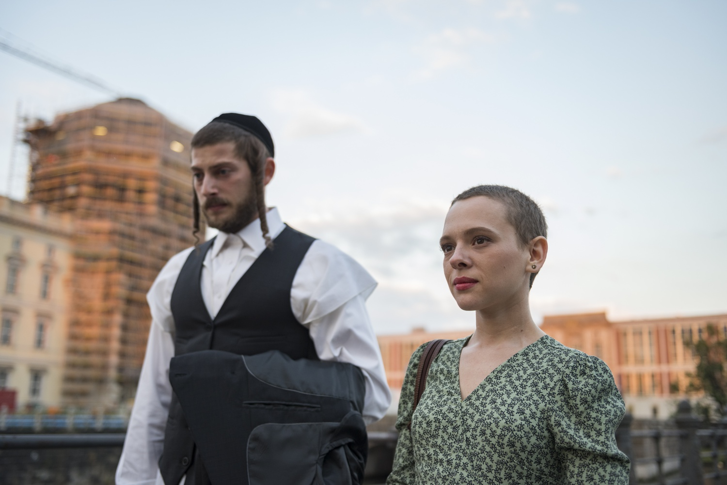 """Shira Haas stars as a young bride named Esty Shapiro in """"Unorthodox."""""""