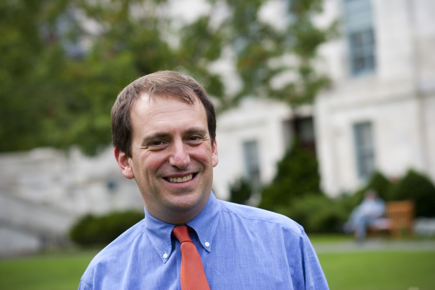 Harvard School of Public Health Professor Marc Lipsitch, whose work understanding the spread of disease has made him one of the institution's most-trusted experts on COVID-19.
