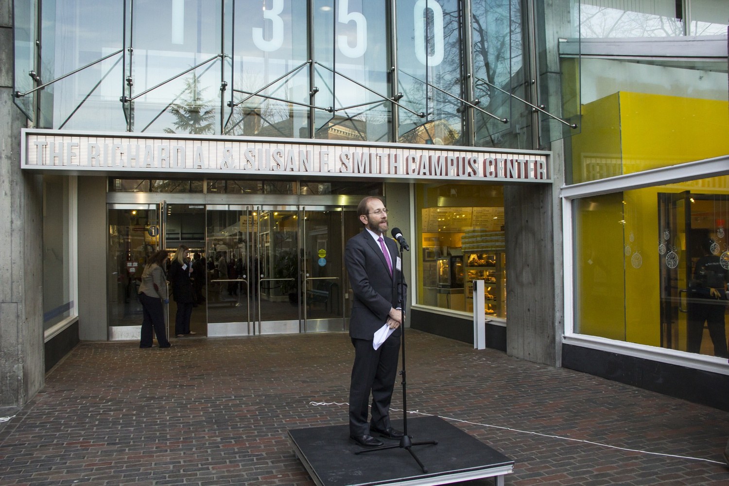 In November 2013, University Provost Alan M. Garber '76 announced the renaming of the Holyoke Center to the Richard A. & Susan F. Smith Campus Center and the renovation project into a new campus center expected to open by 2018.