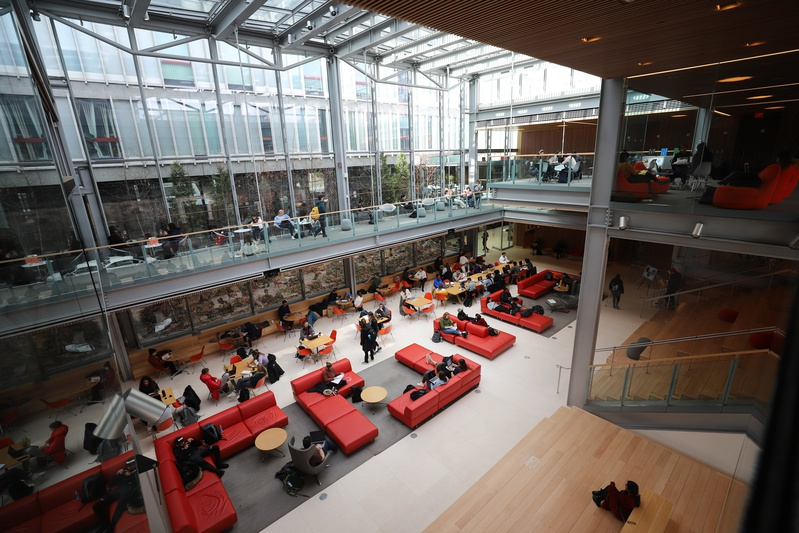 Students in Smith Campus Center