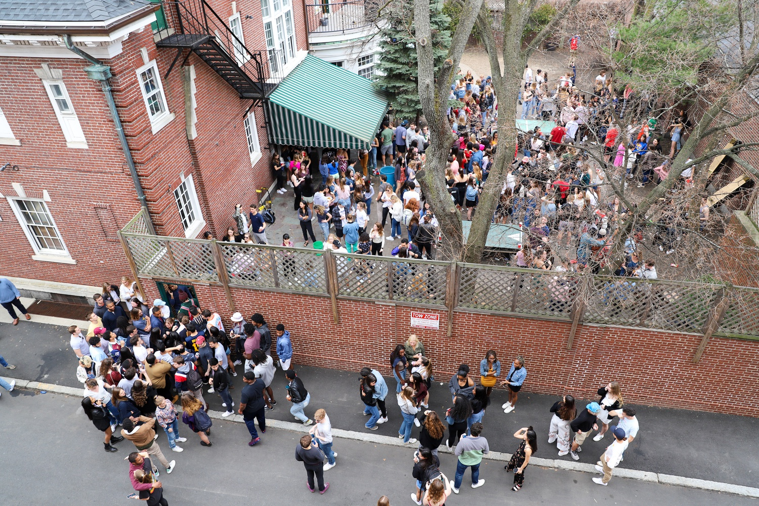 The Owl, a final club at Harvard, hosted a daytime party following the College's announcement that students must evacuate campus. During the last 5 days before vacating campus, many seniors celebrated their last four years by attending various events and parties.