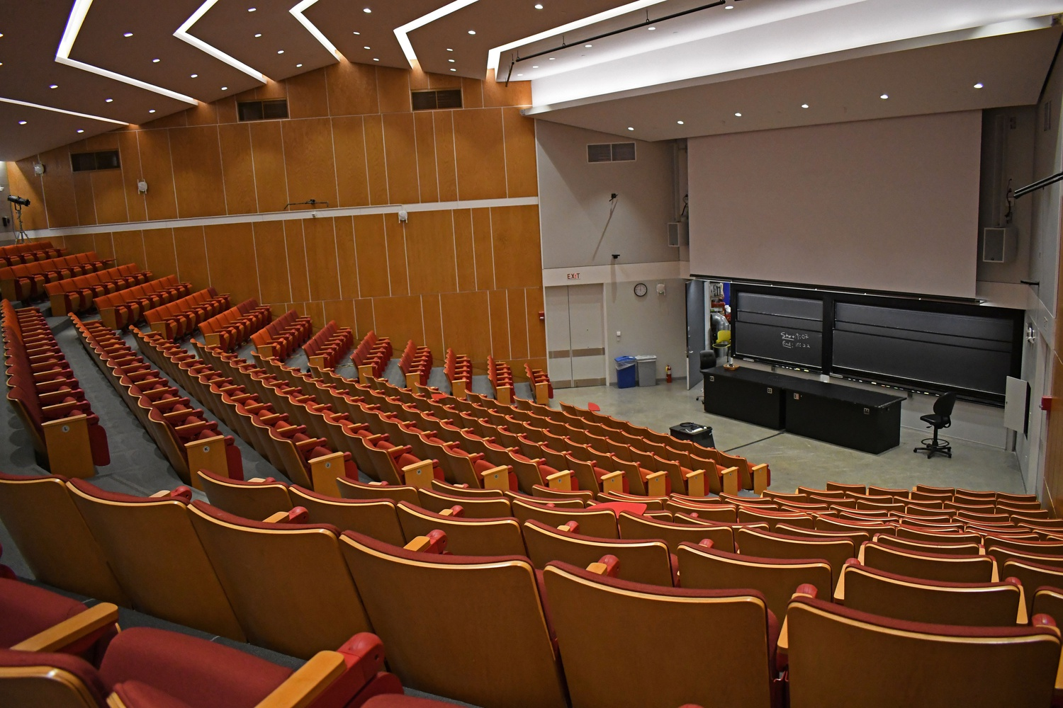 Under social distance guidelines for a possible return to campus, large lecture courses held in halls like Science Center C would require a significantly different organization to ensure distance is kept between each student.