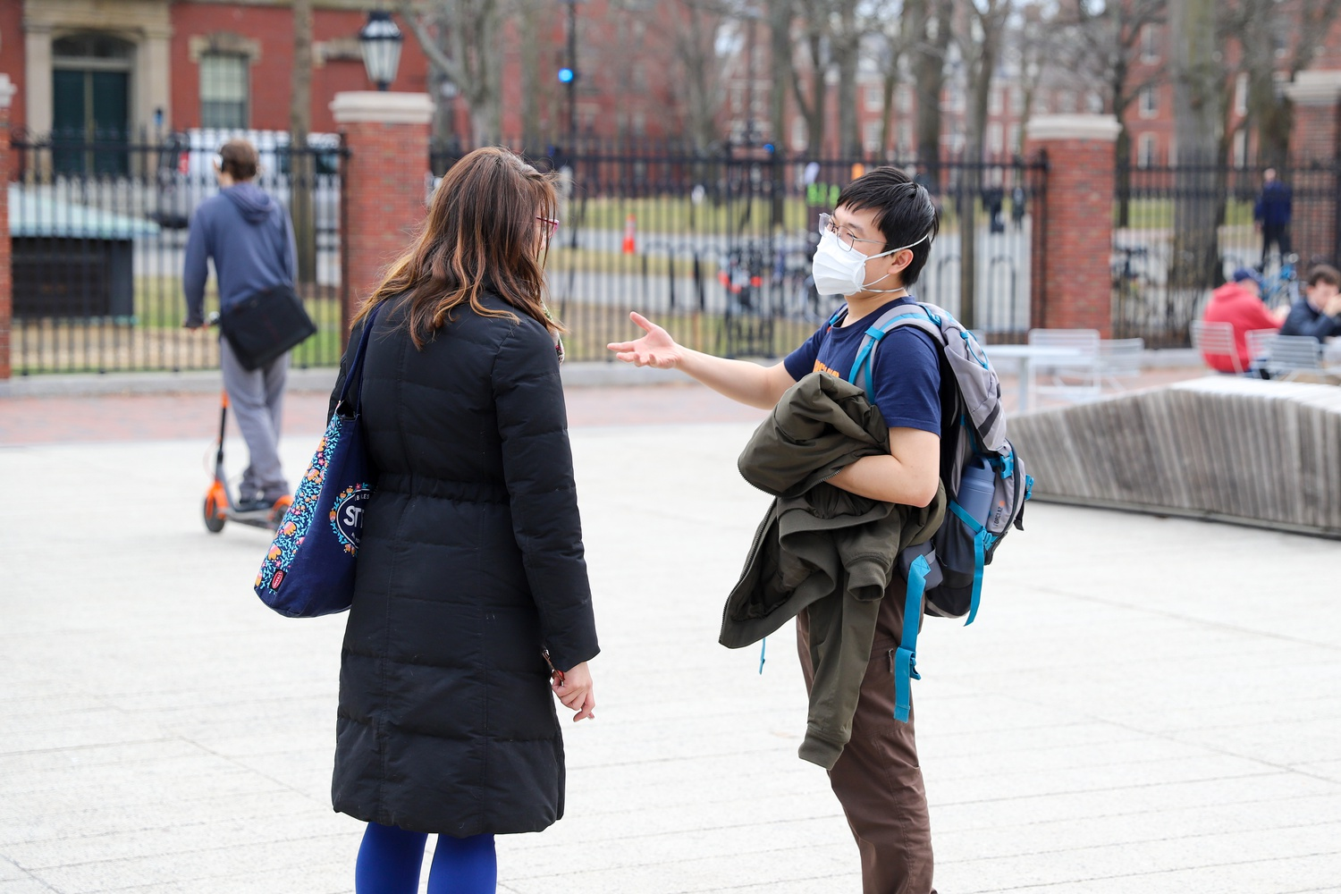 """The """"six pillars"""" to control the outbreak are mask wearing, social distancing, testing, contract tracing, isolation, and treatment, all of which would be necessary to be in place at Harvard for students to return."""