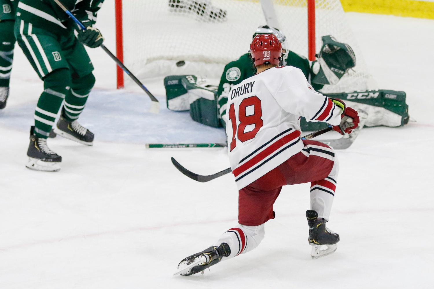 Sophomore forward Jack Drury emerged as one of college hockey's young stars in 2019-2020.