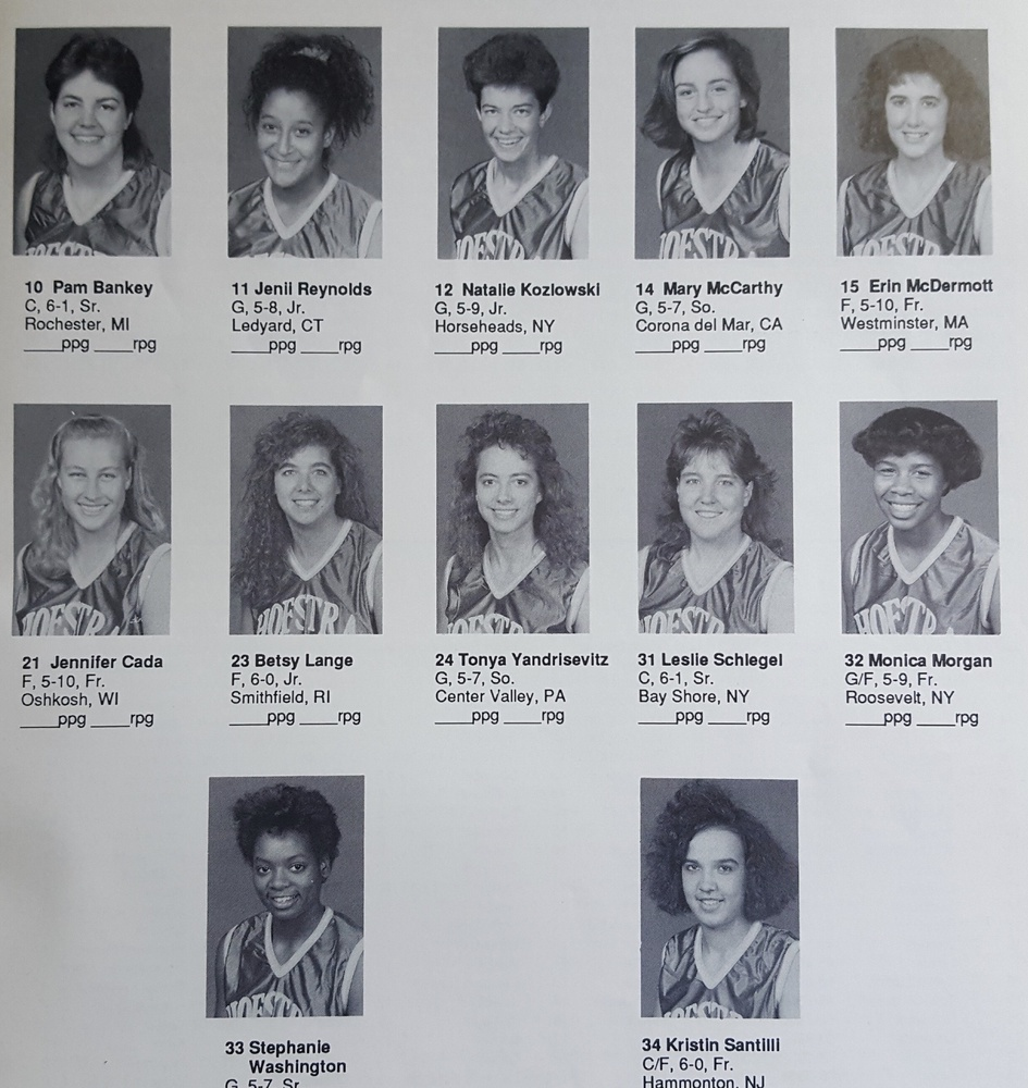 Before a long career in athletics administration, Harvard athletic director Erin McDermott (top right) played Division I basketball at Hofstra, establishing a presence in the paint as a forward and center.