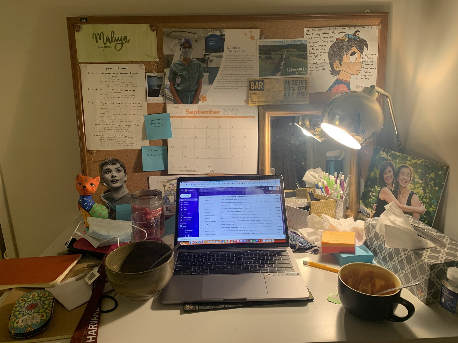 I recently moved into a new apartment, so my desk is much smaller. Like my life right now, it''s a little chaotic, but I'm making it work!