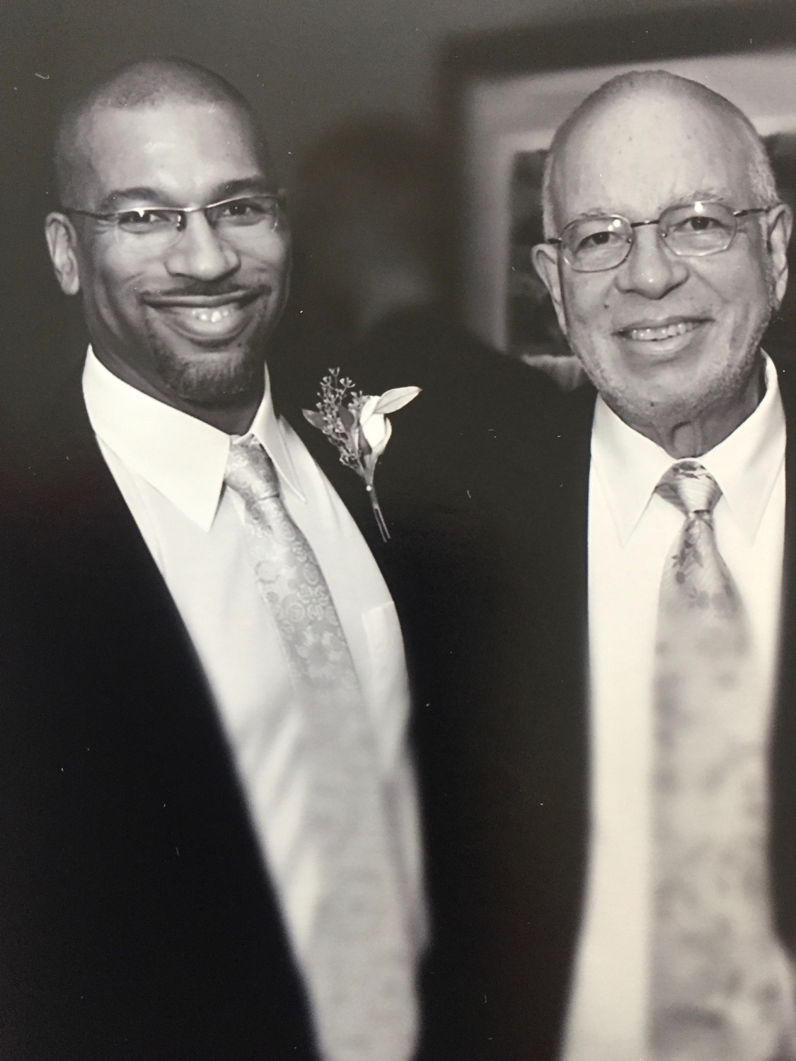 Christian Cooper with his father.